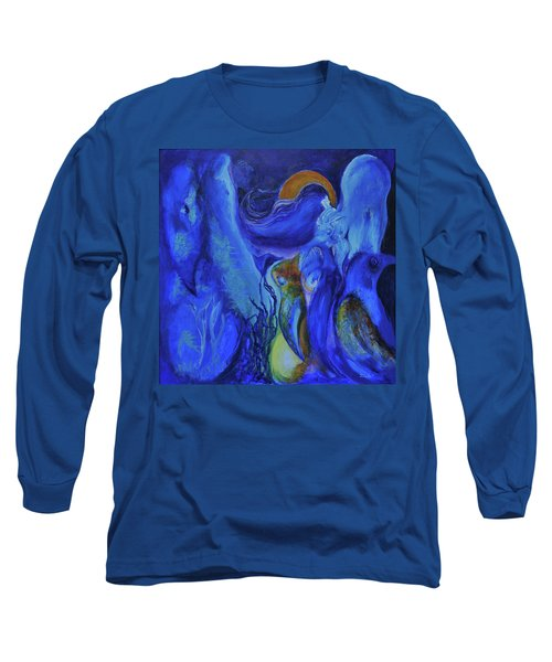 Mourning Birds Of The Final Flower Long Sleeve T-Shirt by Christophe Ennis