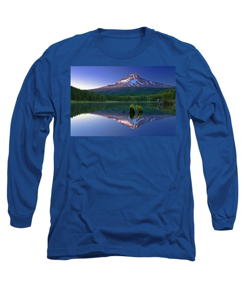 Mt. Hood Reflection At Sunset Long Sleeve T-Shirt