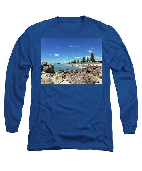 Long Sleeve T-Shirt featuring the photograph Mt Maunganui Beach 3 - Tauranga New Zealand by Selena Boron