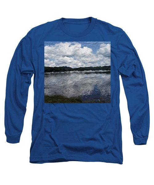 Long Sleeve T-Shirt featuring the painting Mt. Pocono Landscape by Joan Reese