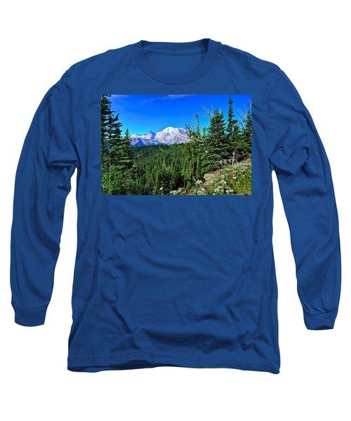 Mt. Rainier Wildflowers Long Sleeve T-Shirt