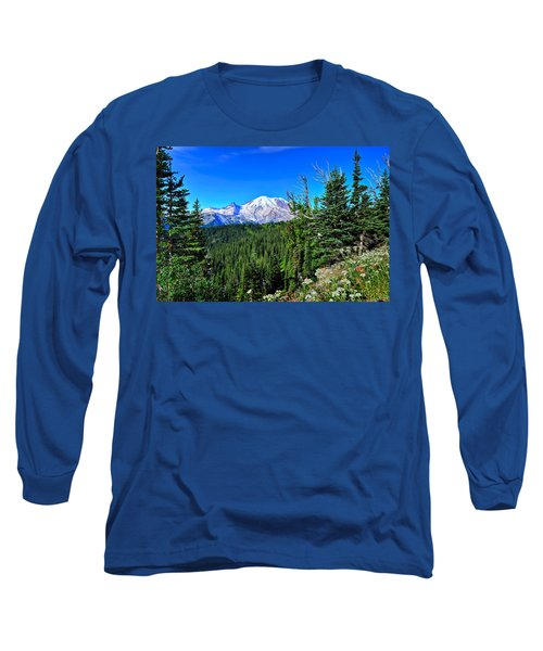 Mt. Rainier Wildflowers Long Sleeve T-Shirt