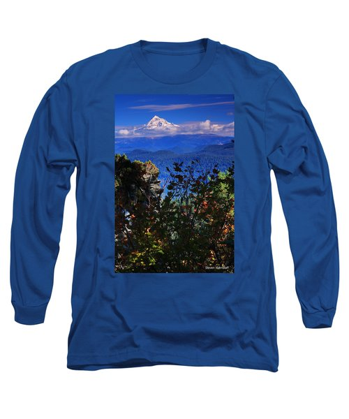Mt.hood N Fall Long Sleeve T-Shirt by Steve Warnstaff