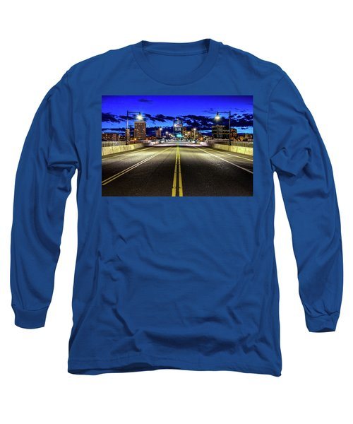 Murray Morgam Bridge During Blue Hour In Hdr Long Sleeve T-Shirt