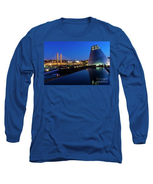 Museum Of Glass At Blue Hour Long Sleeve T-Shirt