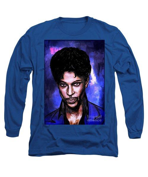 Music Legend  Prince Long Sleeve T-Shirt by Andrzej Szczerski