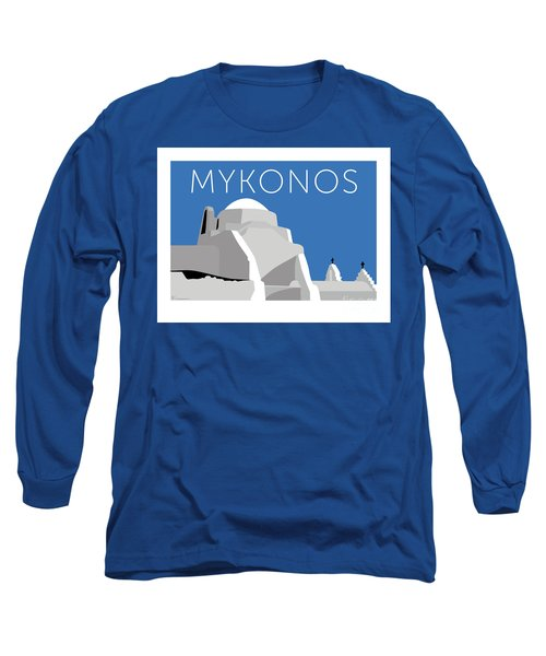 Mykonos Paraportiani - Blue Long Sleeve T-Shirt