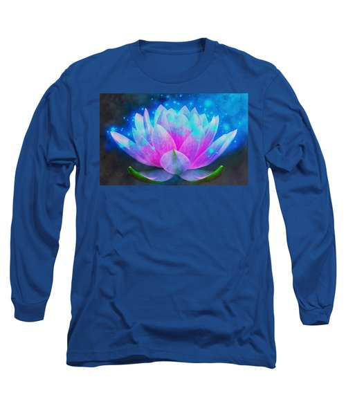Mystic Lotus Long Sleeve T-Shirt by Anton Kalinichev