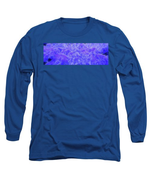 Long Sleeve T-Shirt featuring the digital art Mystic Mountains by Michael Lucarelli