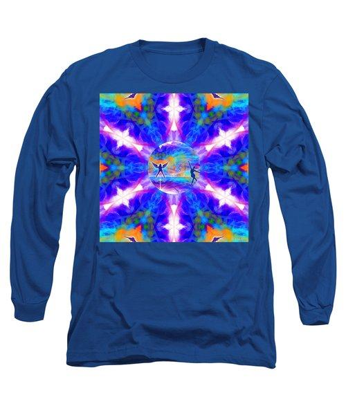 Long Sleeve T-Shirt featuring the digital art Mystic Universe 15 Kk2 by Derek Gedney