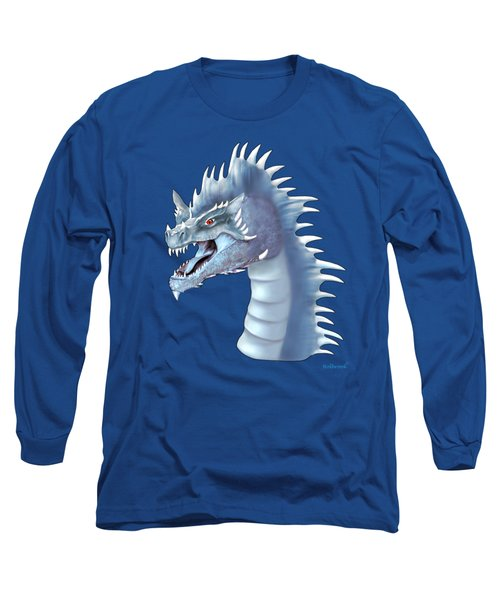 Mystical Ice Dragon Long Sleeve T-Shirt by Glenn Holbrook
