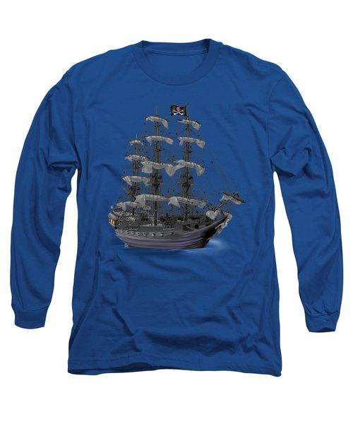 Mystical Moonlit Pirate Ship Long Sleeve T-Shirt