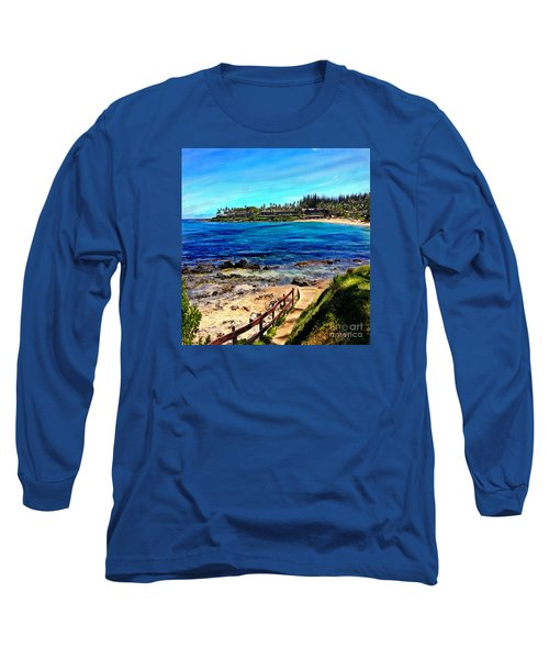 Napili Beach Gazebo Walkway Shower Curtain Size Long Sleeve T-Shirt