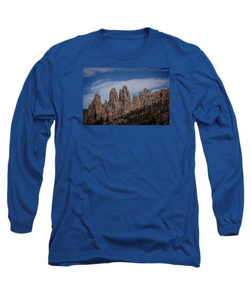 Needles, North Dakota Long Sleeve T-Shirt by Dennis Eckel