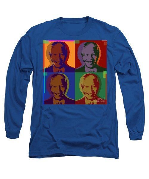 Nelson Mandela Pop Art Long Sleeve T-Shirt