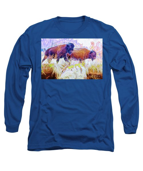 Neon Bison Pair Long Sleeve T-Shirt