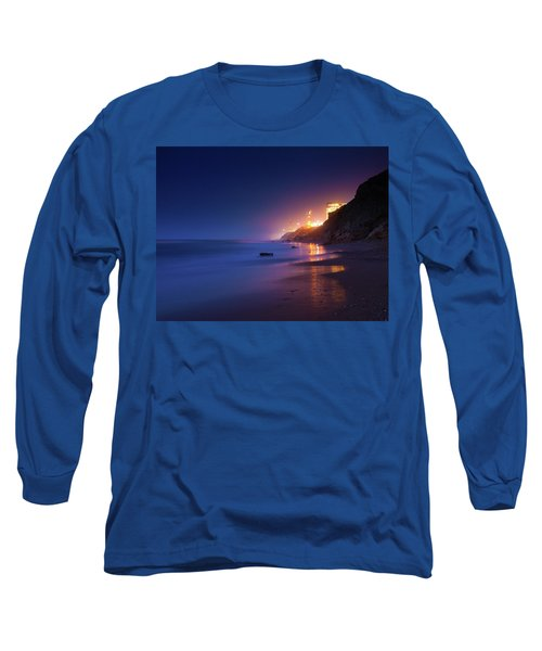 Netanya Beach At Night Long Sleeve T-Shirt