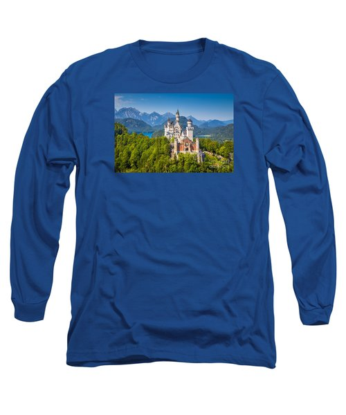 Neuschwanstein Fairytale Castle Long Sleeve T-Shirt by JR Photography