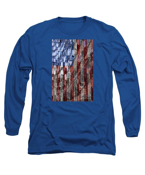 Long Sleeve T-Shirt featuring the photograph Never Forget American Sacrifice by DJ Florek