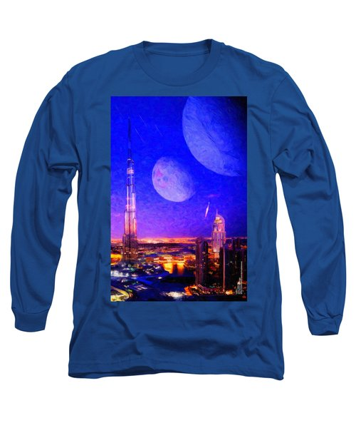 New Dubai On Tau Ceti E Long Sleeve T-Shirt by Chuck Mountain