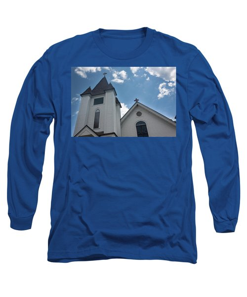 New England Church Long Sleeve T-Shirt by Suzanne Gaff