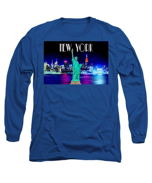 New York Shines Long Sleeve T-Shirt by Az Jackson