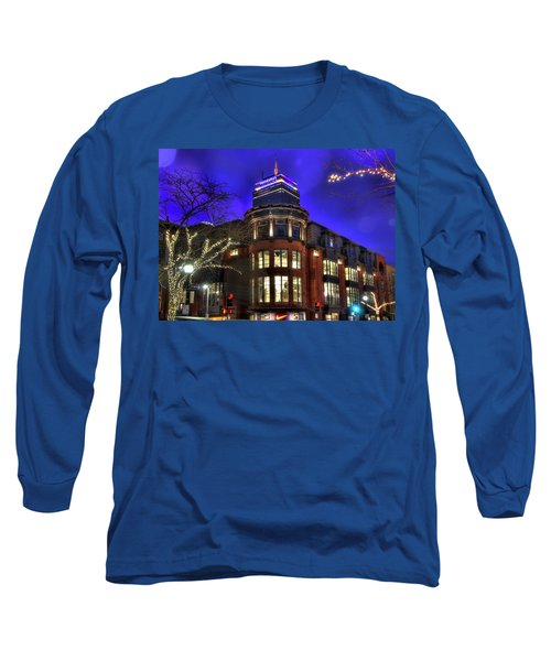 Long Sleeve T-Shirt featuring the photograph Newbury Street And The Prudential - Back Bay - Boston by Joann Vitali