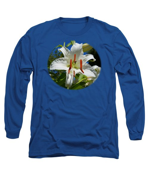 Long Sleeve T-Shirt featuring the photograph Newly Opened Lily by Nick Kloepping