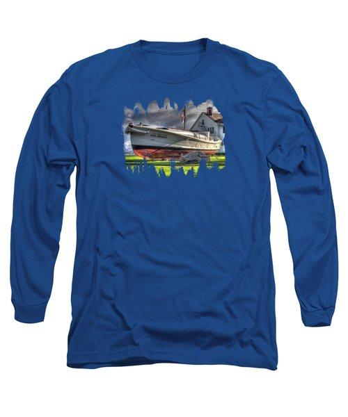 Newport Coast Guard Station Long Sleeve T-Shirt by Thom Zehrfeld