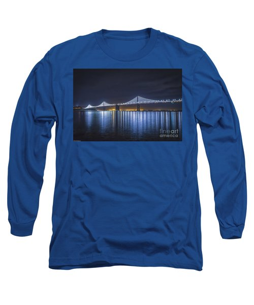 Night Bridge Long Sleeve T-Shirt by Mitch Shindelbower