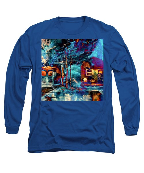 Night Light Long Sleeve T-Shirt by Theresa Marie Johnson