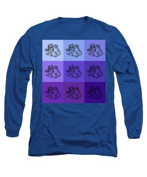 Nine Shades Of Blueberries Long Sleeve T-Shirt