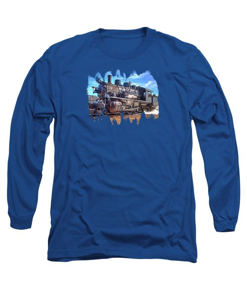 No. 25 Steam Locomotive Long Sleeve T-Shirt by Thom Zehrfeld