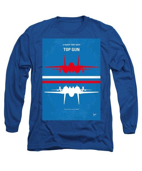 No128 My Top Gun Minimal Movie Poster Long Sleeve T-Shirt by Chungkong Art