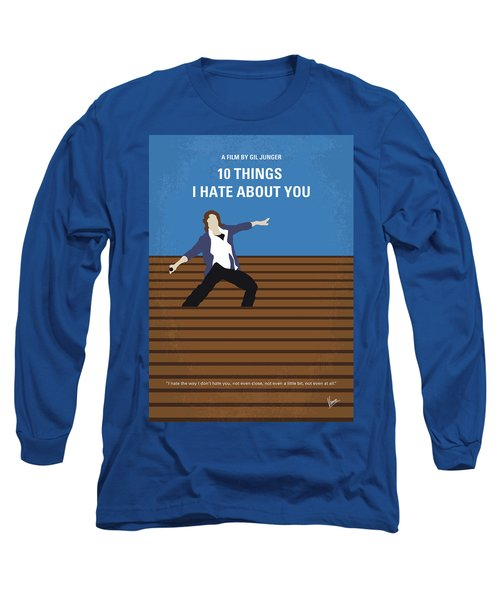 No850 My 10 Things I Hate About You Minimal Movie Poster Long Sleeve T-Shirt
