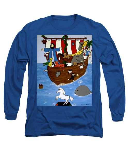Long Sleeve T-Shirt featuring the painting Noah's Ark by Stephanie Moore