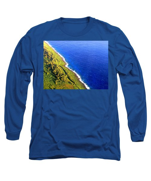 North Coast Of Tinian At Sunrise Long Sleeve T-Shirt