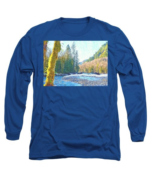 North Fork Of The Skykomish River Long Sleeve T-Shirt by Tobeimean Peter