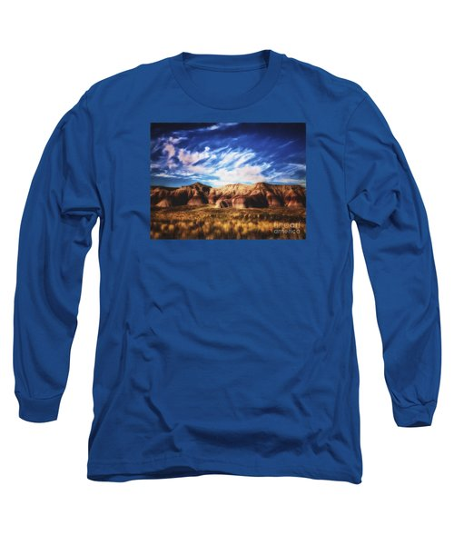 Long Sleeve T-Shirt featuring the photograph Northern Arizona Painted Desert  ... by Chuck Caramella