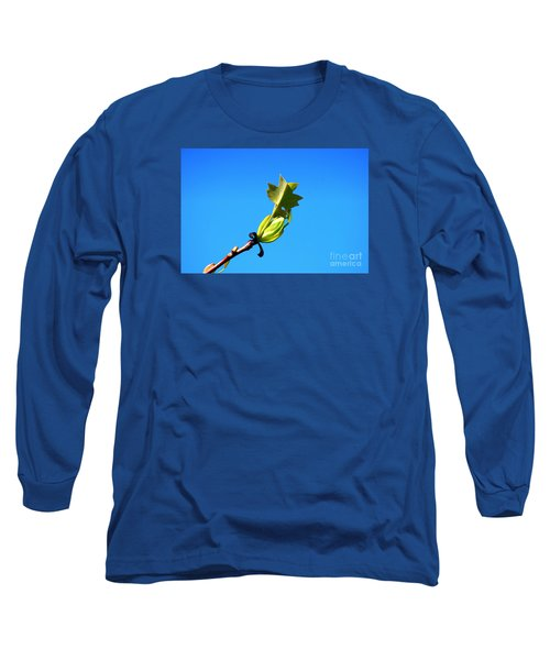 Long Sleeve T-Shirt featuring the photograph Norway Maple Leaf 20120402_171a by Tina Hopkins
