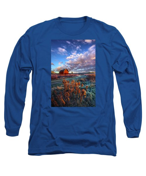 Long Sleeve T-Shirt featuring the photograph Not All Roads Are Paved by Phil Koch