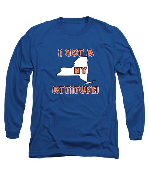Ny Attitude-mets Colors Long Sleeve T-Shirt