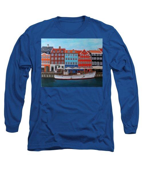 Nyhavn Copenhagen Long Sleeve T-Shirt