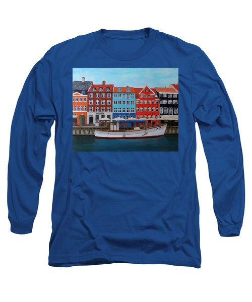 Nyhavn Copenhagen Long Sleeve T-Shirt
