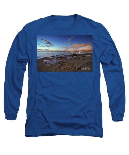 Ocean Beach Pier At Sunset, San Diego, California Long Sleeve T-Shirt