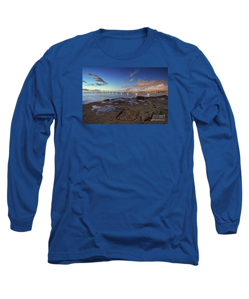 Ocean Beach Pier At Sunset, San Diego, California Long Sleeve T-Shirt
