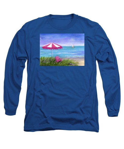 Long Sleeve T-Shirt featuring the painting Ocean Breeze by Sandra Estes