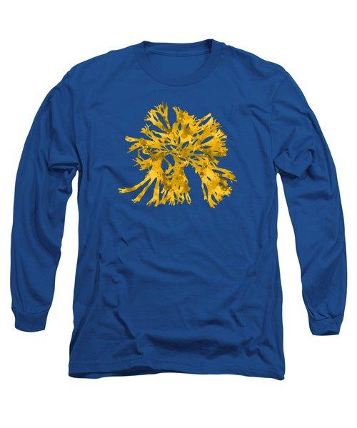 Long Sleeve T-Shirt featuring the mixed media Ocean Seaweed Plant Art Rhodomenia Sobolifera Square by Christina Rollo