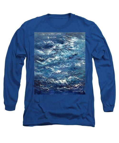 Ocean's Blue Long Sleeve T-Shirt by Valerie Travers