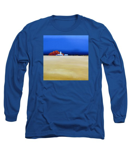Long Sleeve T-Shirt featuring the painting October Fields by Jo Appleby